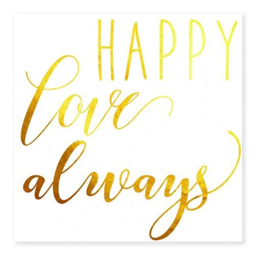 Tatouage HAPPY LOVE ALWAYS