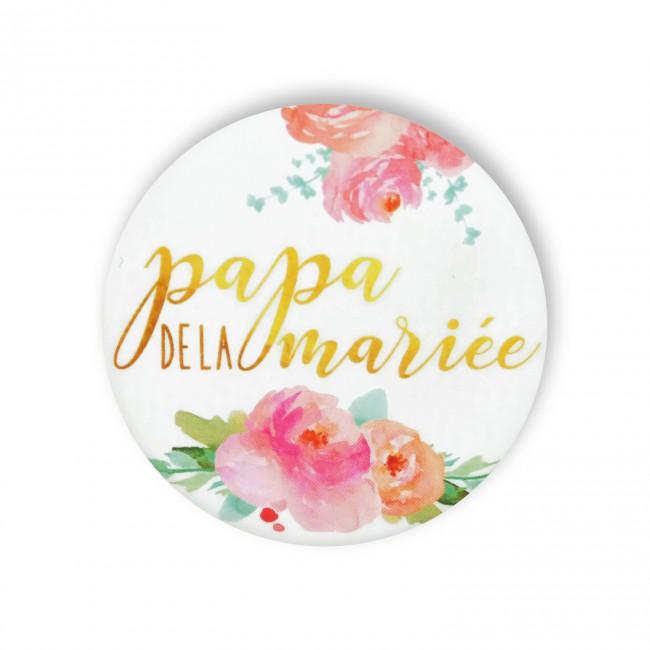 Badge PAPA MARIEE FLEURS