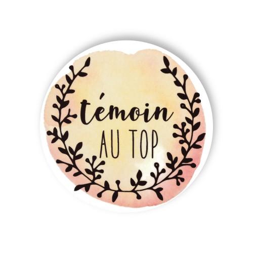 Badge TEMOIN MARIEE FLEURS