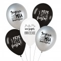Lot de 5 ballons SUPER ANNIVERSAIRE - TRENDY
