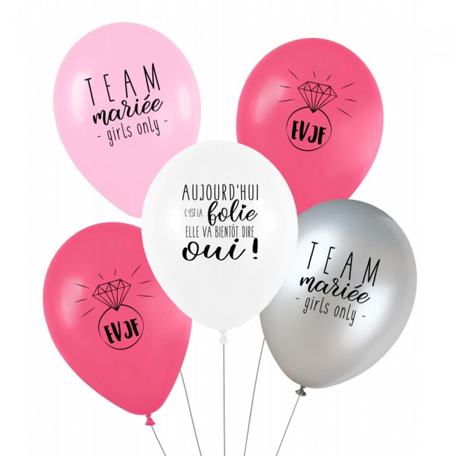 Lot de 5 ballons EVJF