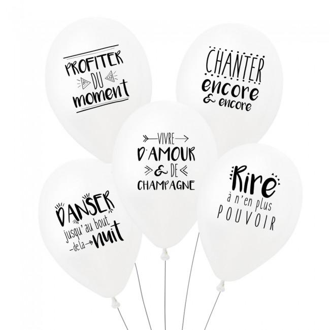 Lot de 5 ballons UNE FÊTE PARFAITE