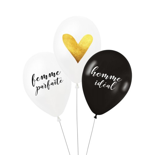 Lot de 3 ballons COUPLE PARFAIT