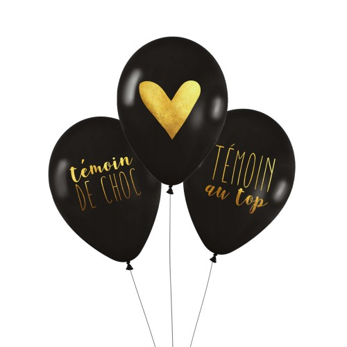 Lot de 3 ballons TEMOINS