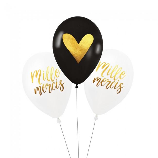 Lot de 3 ballons MILLE MERCIS