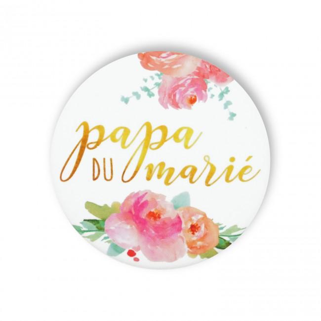 Badge PAPA MARIE FLEURS