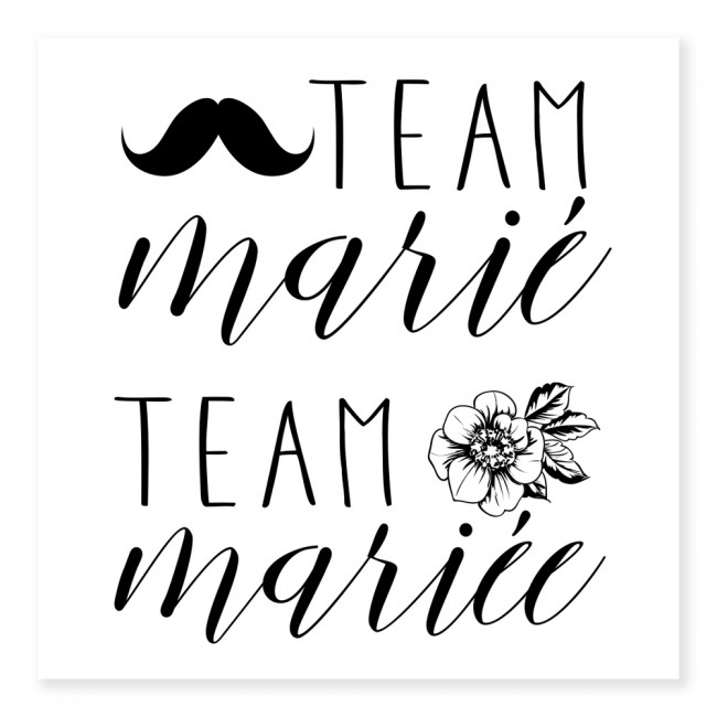 Tatouage TEAM MARIE